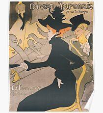 Henri de Toulouse-Lautrec  - Divan Japonais (1892 - 1893)Woman Portrait Fashion Poster