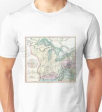 Vintage Map of The Great Lakes & Midwest (1801) Unisex T-Shirt