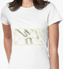 Vintage Map of The San Francisco Bay (1856) Women's Fitted T-Shirt