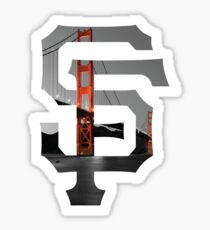 SF Giants Black Sticker