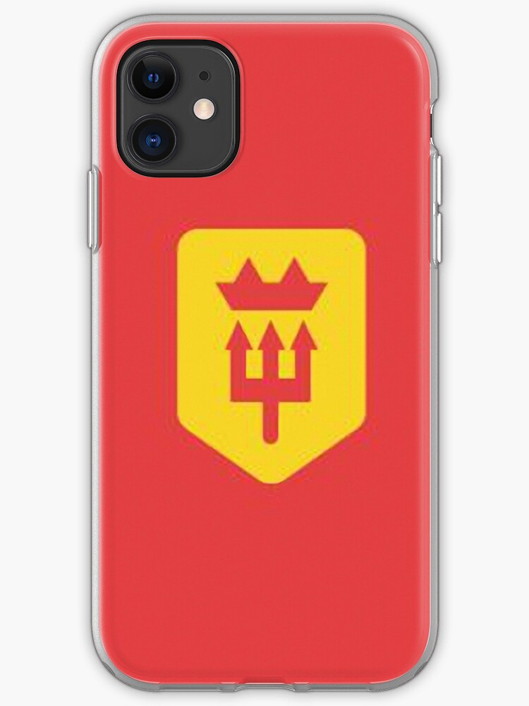 Manchester United Minimalist Football Design Iphone Case Cover By Mauro6 Redbubble