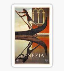 Vintage Venice Italy travel advert, gondola Sticker