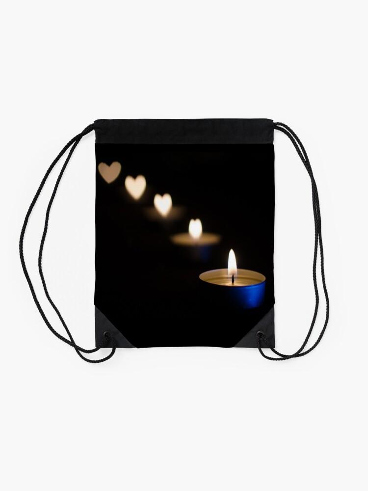Alternate view of Burning Love Drawstring Bag