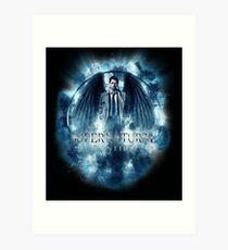 Supernatural Castiel Storm Art Print