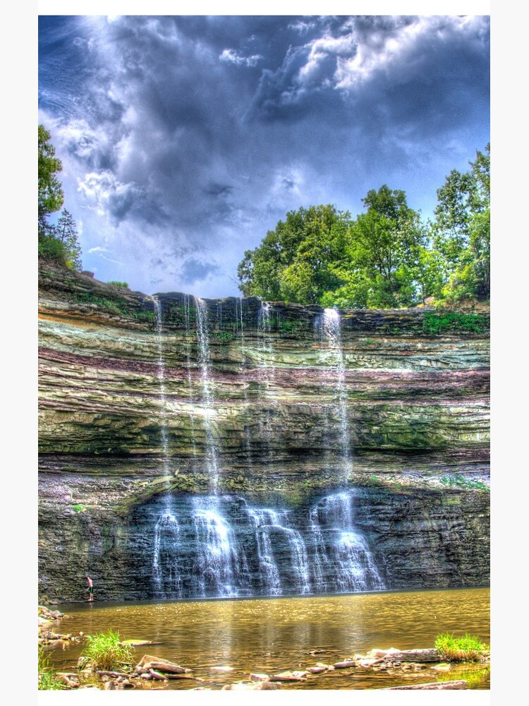 Vibrant waterfall by daveriganelli
