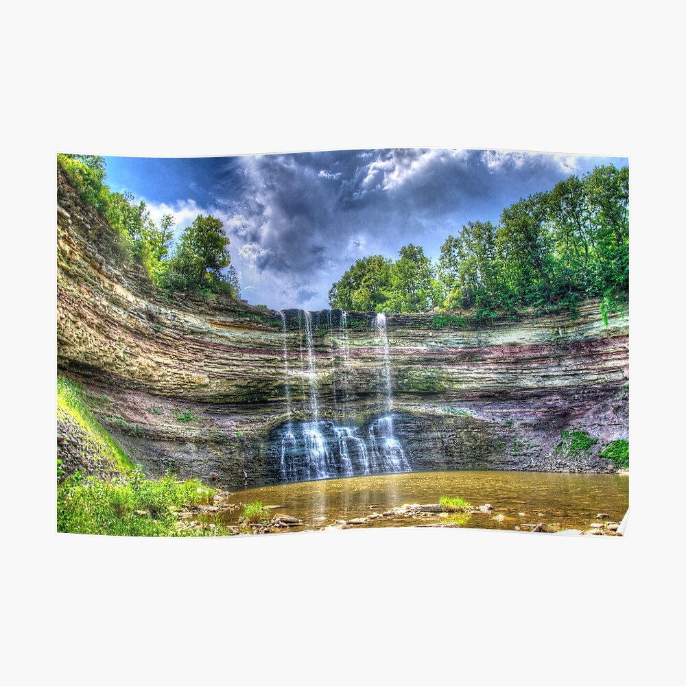 Vibrant waterfall Poster