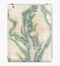 Vintage Map of The Chesapeake Bay (1873) iPad Case/Skin