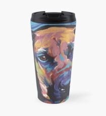Rhodesian Ridgeback Bright colorful pop dog art Travel Mug