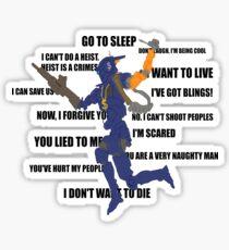Chappie Quotes Sticker