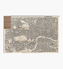 Vintage Map of London England (1899) 2 Photographic Print