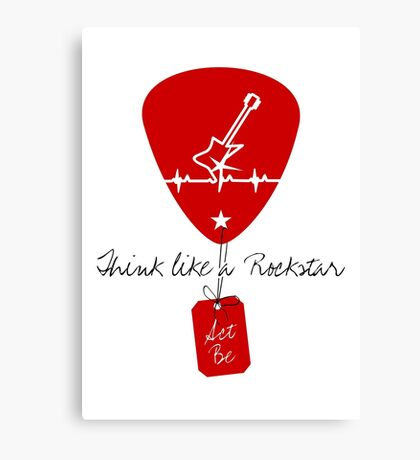 Think like a Rockstar VRS2 Canvas Print