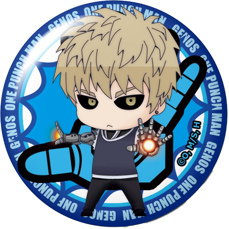 One punch man genos button by greedretro