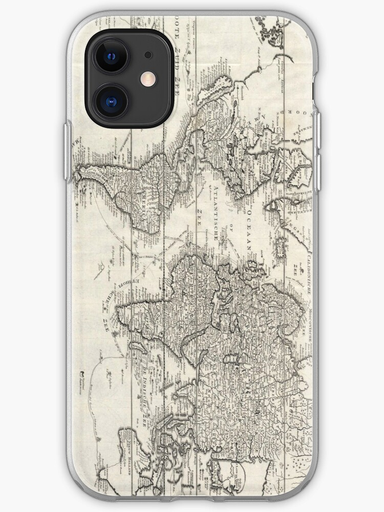 Vintage World Map 1801 iphone 11 case