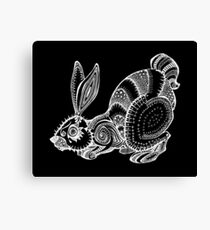 White Rabbit (inverted) Canvas Print
