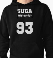 BTS - Suga Jersey Style Pullover Hoodie