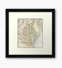 Vintage Map of The Chesapeake Bay (1778) 2 Framed Print