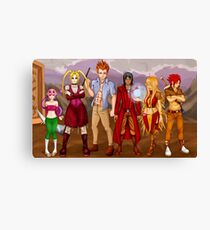 Character Line Up Design Canvas Print