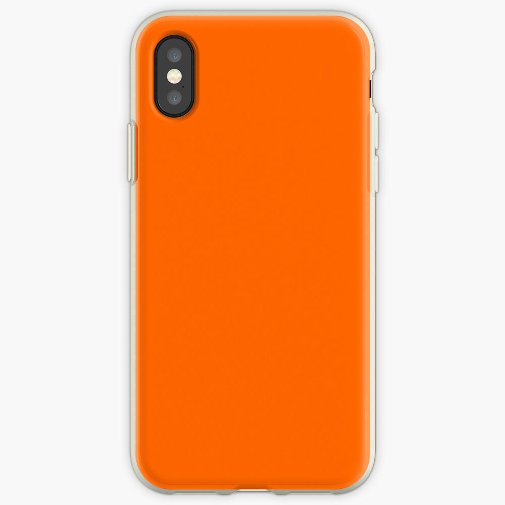Blaze Orange iPhone-Hülle & Cover