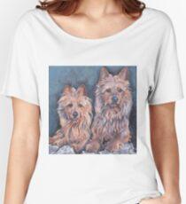 australian Terrier Fine Art Painting Women's Relaxed Fit T-Shirt