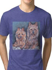 australian Terrier Fine Art Painting Tri-blend T-Shirt