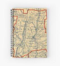 Vintage Map of Hartford County CT (1846) Spiral Notebook