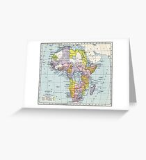 Vintage Map of Africa (1897) Greeting Card