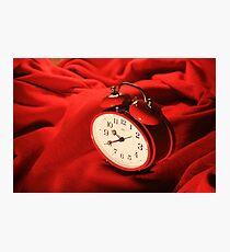 Red Alarm Clock 2 - Macro Photography Photographic Print