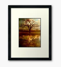 "A Place To ""Reflect"" Framed Print"