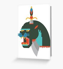 Flat design Panther Greeting Card