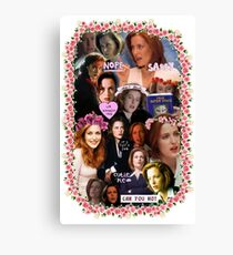 X-files Dana Scully - Collage Part 2 Canvas Print