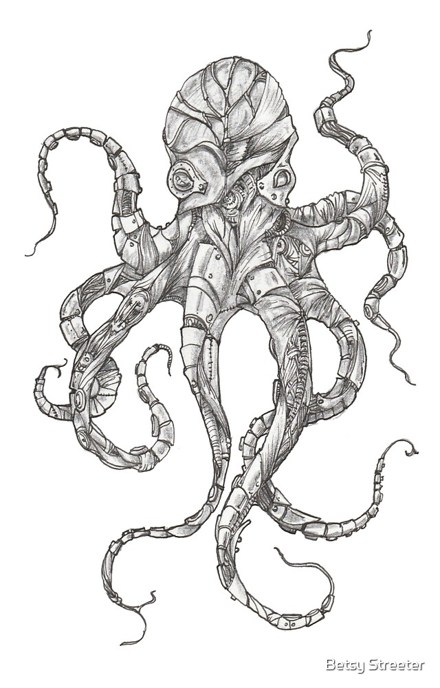 Steampunk Octopus by Betsy Streeter