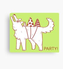Party Dog Canvas Print