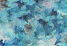 Marbleized Digital Blue by bluerabbit