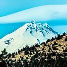 Mt. Jefferson Peeking Over Juniper Butte by Richard Bozarth