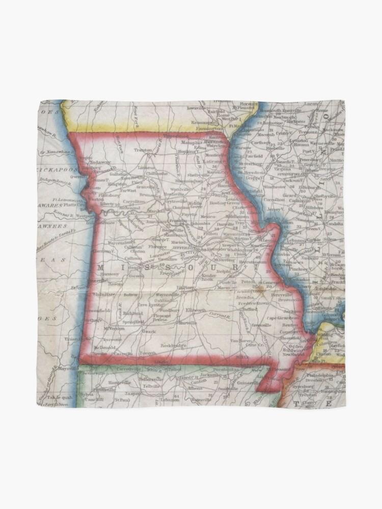 Alternate view of Vintage Map of Missouri (1848) Scarf