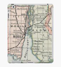 Vintage Map of Mobile Alabama (1891) iPad Case/Skin