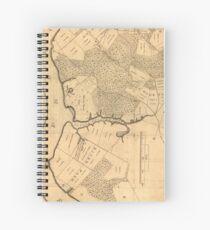 Vintage Map of The Mount Vernon Plantation (1801) Spiral Notebook