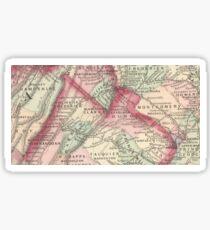 Vintage Map of Northern Virginia (1875) Sticker
