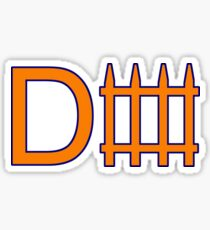 Denver D Fence Orange  Sticker