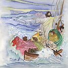 Jesus Calms the Storm by Anne Gitto