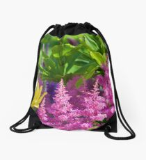 Astilbe In The Garden Drawstring Bag