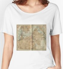 Vintage Map of Ottawa Canada (1894) Women's Relaxed Fit T-Shirt