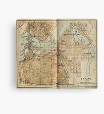 Vintage Map of Ottawa Canada (1894) Metal Print
