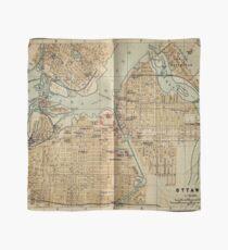 Vintage Map of Ottawa Canada (1894) Scarf