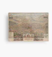 Vintage Bildkarte von Prescott Arizona (1885) Metalldruck