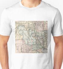 Vintage Map of Salt Lake City (1891) Unisex T-Shirt