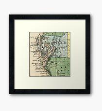 Vintage Map of Tampa Florida (1870) Framed Print