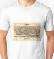 Vintage Pictorial Map of Waynesboro VA (1891) Unisex T-Shirt