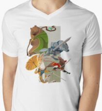 For the Crown Mens V-Neck T-Shirt