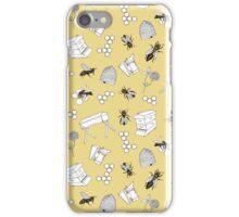Beekeeper Print in Buttercup Yellow iPhone Case/Skin